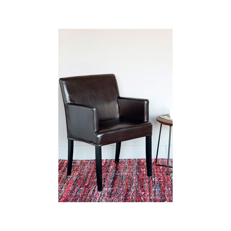 tissu simili cuir maltese noir tissus des ursules. Black Bedroom Furniture Sets. Home Design Ideas
