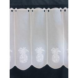 Brise Bise Ananas Voile Marbre Blanc Gris Lurex Hauteur 89 cm