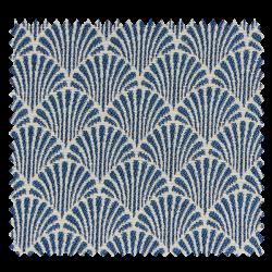 Tissu Jacquard Abanico Ecaille Bleu