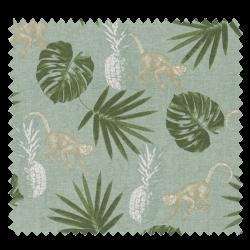 Tissu Imprimé Jungle Fond vert