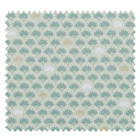 Tissu Imprimé Petite Feuille Fond Vert