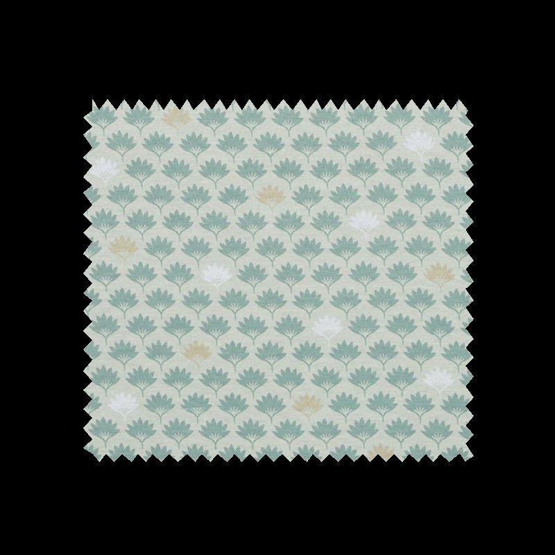 tissu imprim petite feuille fond vert tissus des ursules. Black Bedroom Furniture Sets. Home Design Ideas