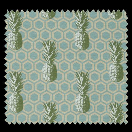 Tissu Imprimé Ananas Imprimé Fond Géométrique