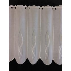 Brise Bise Flammes Etamine Blanc Gris Clair - Hauteur 89 cm