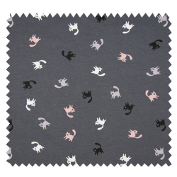 Tissu Jersey Small Cats Rose