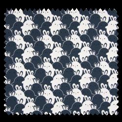Tissu Jersey Rabbit Bleu
