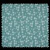 Tissu Coton Popeline Flower Menthe