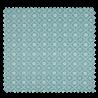 Tissu Coton Popeline Damier Fleur Menthe