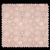Tissu Coton Popeline Graphic Saumon