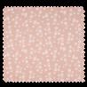 Tissu Coton Popeline Flower Saumon