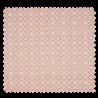 Tissu Coton Popeline Damier Fleur Saumon