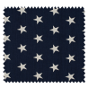 Tissu Coton Popeline Grosse Etoile Marine