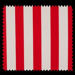 Tissu Coton Popeline Grosse Rayure Rouge