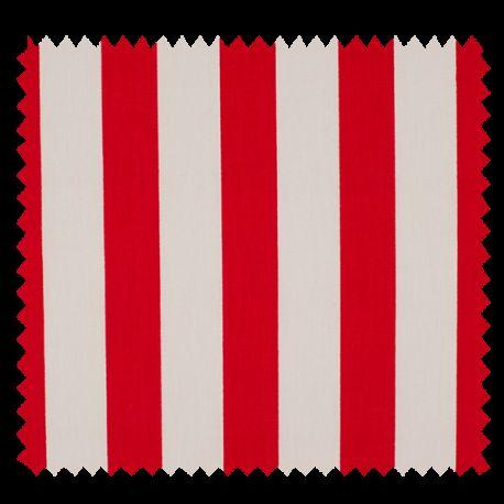 tissu coton popeline grosse rayure rouge tissus des ursules. Black Bedroom Furniture Sets. Home Design Ideas