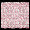Tissu Coton Popeline Chevron Rose