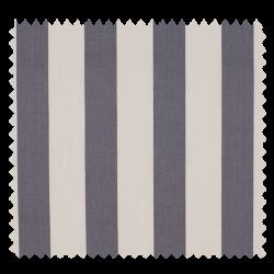 Tissu Coton Popeline Grosse Rayure Grise