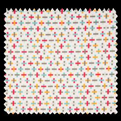Tissu Coton Tetris Turquoise