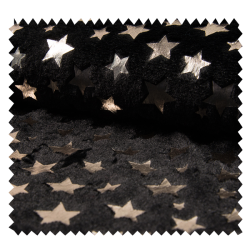 Tissu Fourrure Star Black