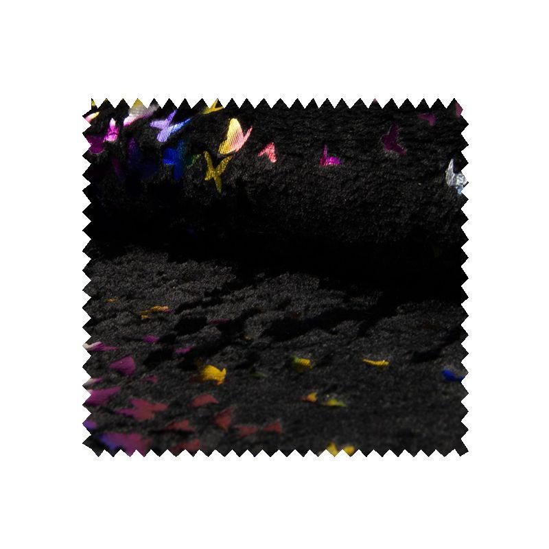 tissu fourrure papillon multico tissus des ursules. Black Bedroom Furniture Sets. Home Design Ideas