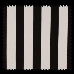 Tissu Coton Popeline Grosse Rayure Noir