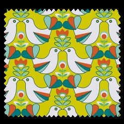 Tissu Cretonne Birdy Lime