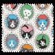 Tissu Cretonne Chats Family Multicolore