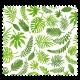 Tissu Cretonne Mini Feuilles Vert