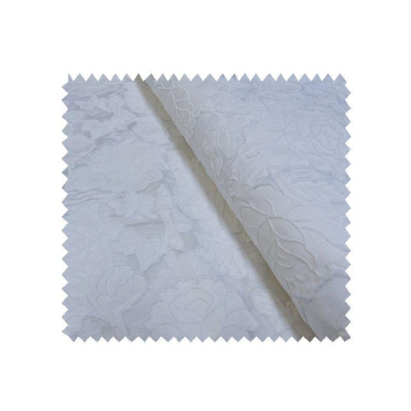 tissu jacquard luxe blanc tissus des ursules. Black Bedroom Furniture Sets. Home Design Ideas