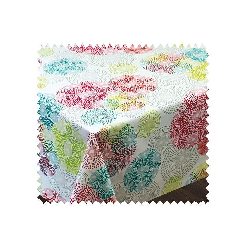 Tissu Toile Cirée Textile Spirale Imprimé Multico