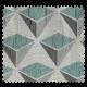 Tissu Jacquard Carat Géométrie Triangle Bleu Clair Gris