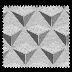 Tissu Jacquard Carat Géométrie Triangle Gris Clair Anthracite