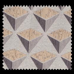 Tissu Jacquard Carat Géométrie Triangle Rose Clair Gris