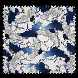 Tissu Grue Japonaise Bleu