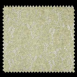 Tissu Dentelle Stone Washed Tilleul