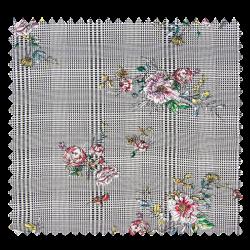 Tissu Prince de Galles Fleurs