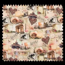 Tissu Paris Love