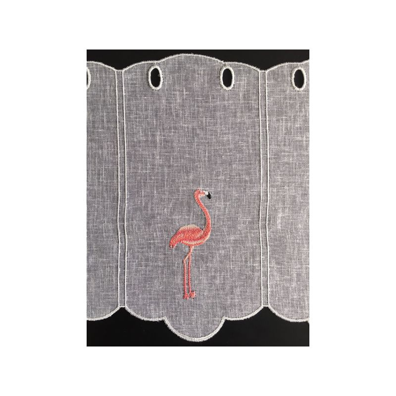 brise bise brod flamant rose hauteur 60 cm tissus des ursules. Black Bedroom Furniture Sets. Home Design Ideas