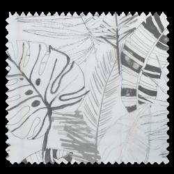 Tissu voilage Imprimé Cascais Jungle Fond Blanc