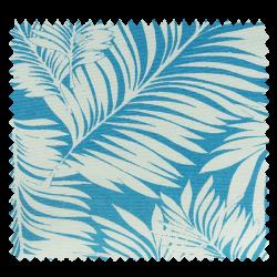 Tissu Toile Acuario Feuillage Bleu