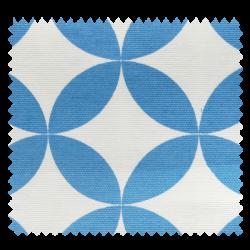 Tissu Toile Aguamarine Rosace Bleu