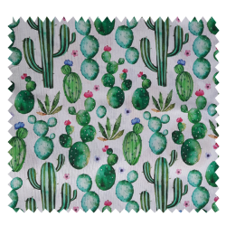 Tissu Desert Panama Bachette Imprimé digital