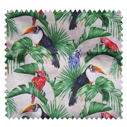 Tissu Tucan Panama Bachette Imprimé digital