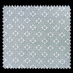 Tissu Jacquard Picto Bleu Vert