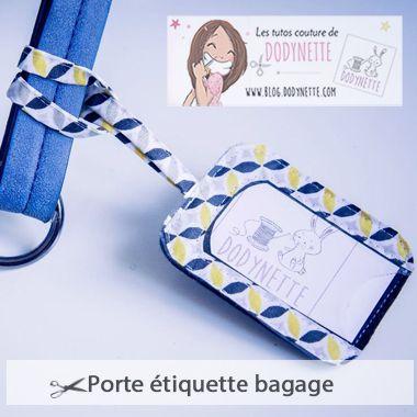 Tutoriel Porte Etiquette Bagage - Dodynette