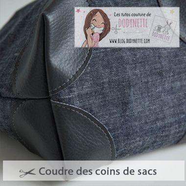 Tutoriel Coudre des coins de sacs - Dodynette