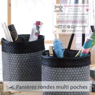 Tutoriel Panière Ronde Multi Poches - Vinydiy