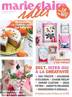 Revue de Presse Marie Claire Idées - Janvier Février 2017