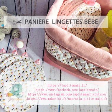 Panière Lingette Bébé
