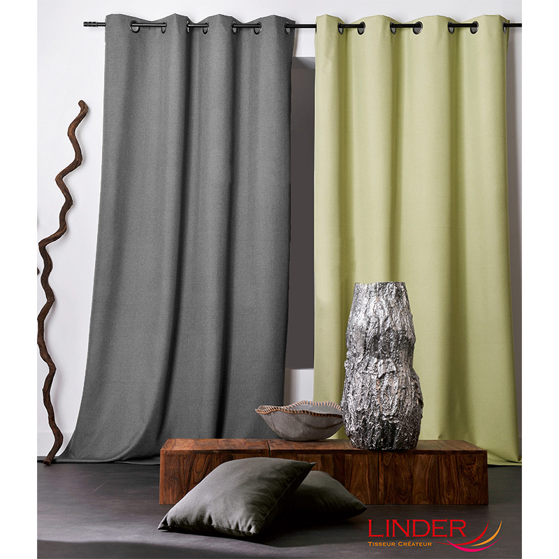 Tissu Occultant Chiné Oxford Anthracite