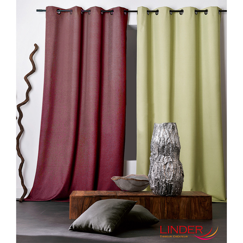 Tissu Occultant Chiné Oxford Rouge
